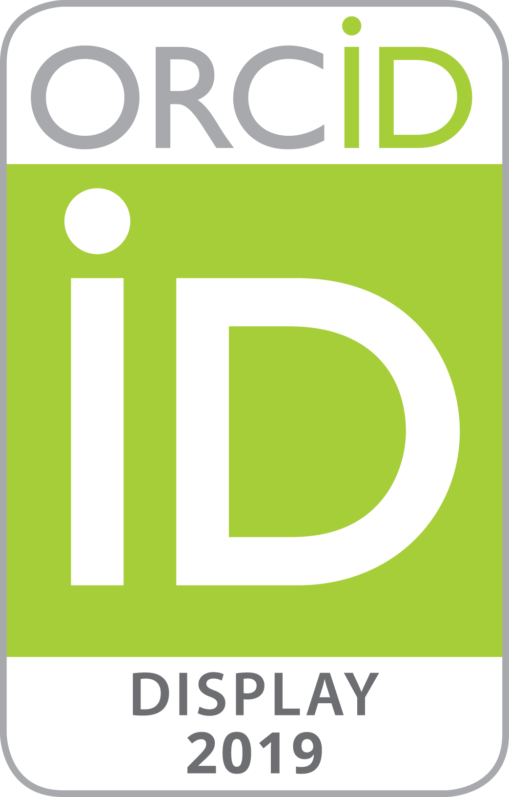 ORCID AUTHENTICATE DISPLAY 2019